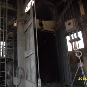 Sabbiatrice Granigliatrice - Sterroranigliatrice a GRAPPOLO con Paranco Monotrave TOSCA TS SP 20x35